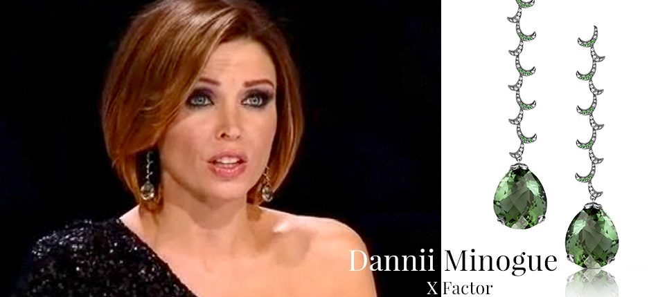 Dannii Minoque wearing Fei Liu Whispering Long Earrings for X Factor